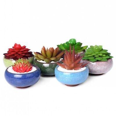 Lovely Mini Ice-Crack Glaze Flower Ceramics Succulent Plant Pot Flowerpot Decor 2
