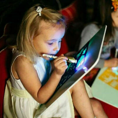 UK Draw With Light Fun And Developing Toy Drawing Board Magic Draw Educational 3