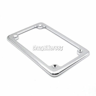 CHROME METAL DELUXE Metal Motorcycle License Plate Frame - Lic Tag ...