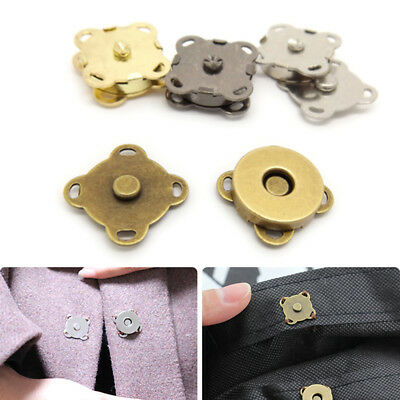10x #MBF-22 DIY Black Magnetic Buttons Snaps Fasteners Bag Purse Clasps Handbag