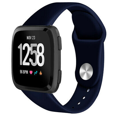 For Fitbit Versa Smartwatch Soft Silicone Replacement Sports Classic Band Strap 6