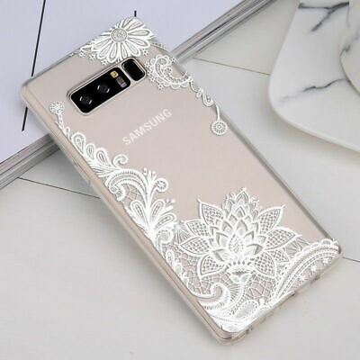 Galaxy Note 10 Plus 10+ S10e S10+ Case Mandala Lace Clear Bumper Cover F Samsung 9