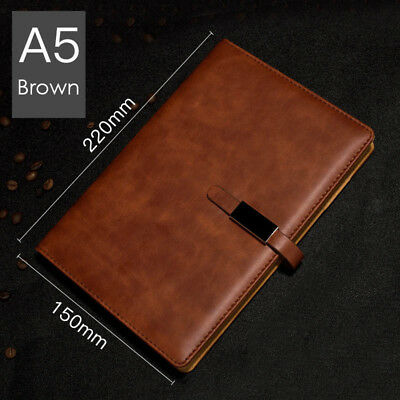 A5 PU Leather Vintage Journal Notebook Lined Paper Diary Planner with Buckle 6