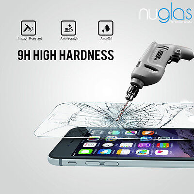 2x Nuglas Tempered Glass Screen Protector For iPhone XS Max X 8 7 6 6S Plus 10
