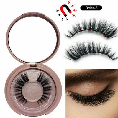 Magnetic liquid Eyeliner magnets False Eyelashes Tweezer Easy Wear Lashes Set 2