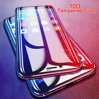 For IPhone X XS MAX XR 8 7 6 10D Full Cover Real Tempered Glass Screen Protector 2