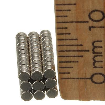 50/100 Neodym Mini-Magnete Scheiben-Magnete 2x1mm rund - extra-starke Haftkraft 5