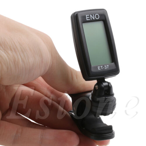 Digital LCD Chromatic Electric Guitar Clip On Tuner Acoustic Bass Violin Ukulele 7