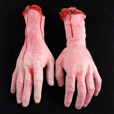 Halloween Horror Props Lifesize Bloody Hand Haunted House Party Scary Decoration 3