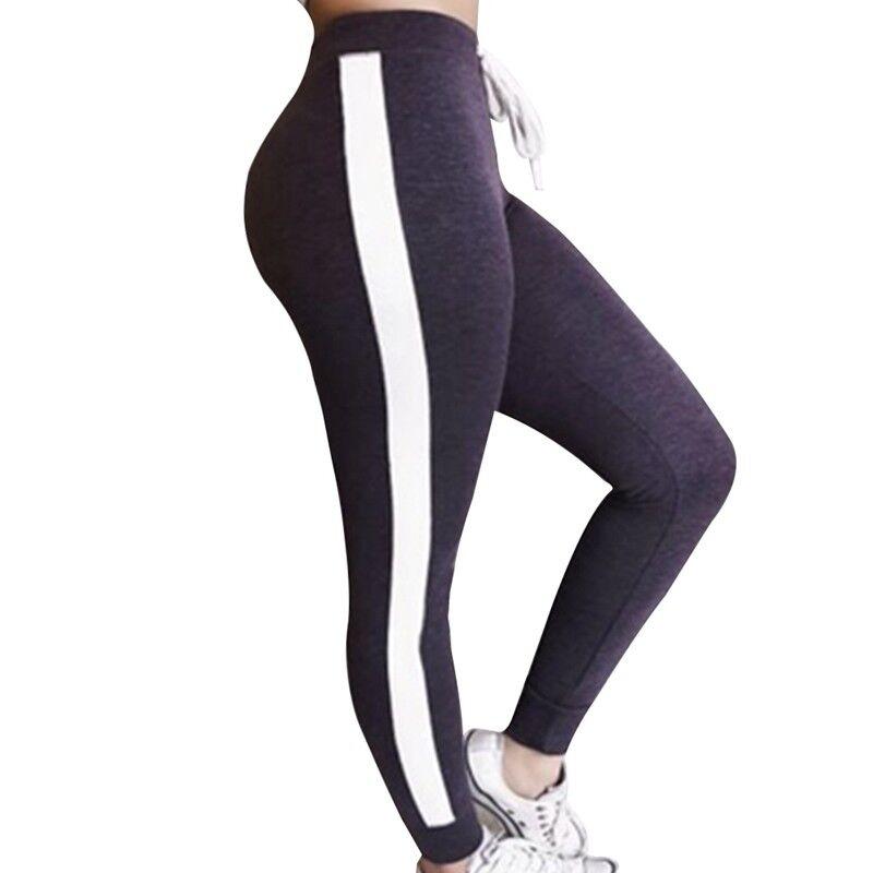 magasiner pour authentique fournir un grand choix de grande qualité FEMME DÉCONTRACTÉ PANTALON Sarouel Côté à Rayures Sport Survêtement Jogging