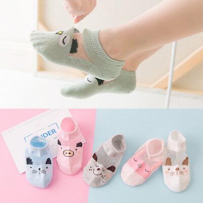 5 Pairs Baby Boy Girl Cartoon Cotton Ankles Socks Newborn Infant Toddler Soft 2