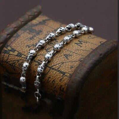 925 Sterling Silver Skull Bracelet Hallmarked 2