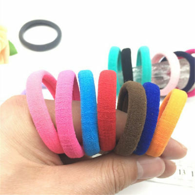Lots 50/100Pcs Girls elastic hair ties band rope ponytail bracelets scrunchie 10