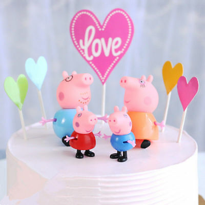 25 Pcs Peppa Pig Family&Friends Emily Rebecca Suzy Action Figures Toys Kids Gift 3