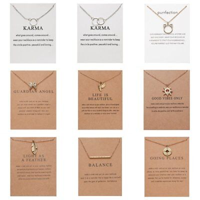 Fashion Women Animal Heart Necklace Charms Pendant Clavicle Chain Jewelry Card 6