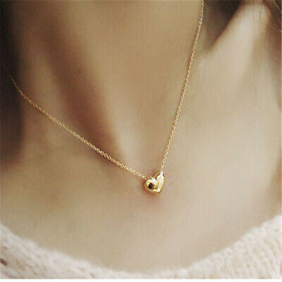 Women Chic Heart Silver/Gold Plated Charm Ear Stud Earrings+Necklace Jewerly 3