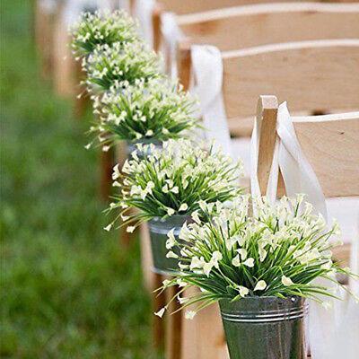 Plastic Outdoor Artificial Flowers Fake False Plants Grass Garden Lily Tulip, 4