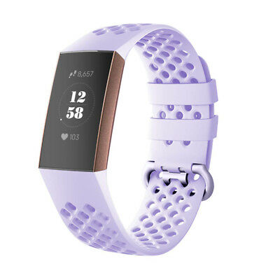 For Fitbit Charge 3 Watch Band Replacement Silicone Breathable Wrist Bracelet 8