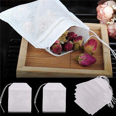 100x vides sacs à thé ficelle chaleur filtre papier filtre à thé sachets de thé^ 4
