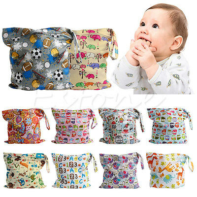 Baby Protable Nappy Washable Nappy Wet Dry Cloth Zipper Waterproof Diaper Bag 3