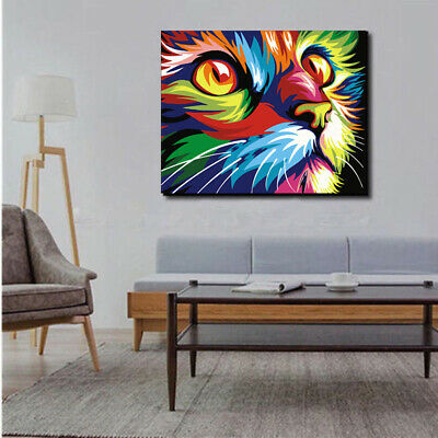 DIY Paint By Numbers Kit Digital Oil Painting Animal Scenery Art Wall Home Decor 2