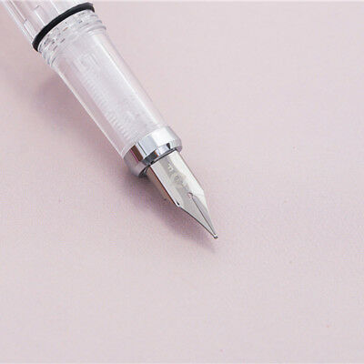 2018 Wing Sung 3008 Silver Clip Piston Fountain Pen Extra Fine EF Nib 0.38/0.5mm