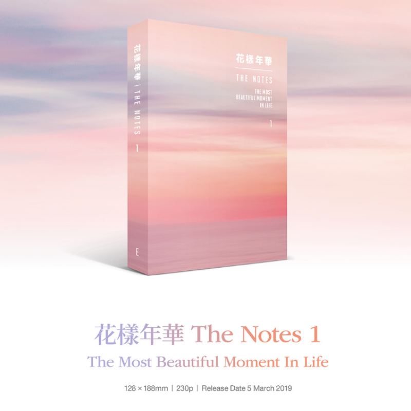 BIG HIT Entertainment -  BTS 花樣年華 THE NOTES BOOK Korean, English, Japanese Ver. 4