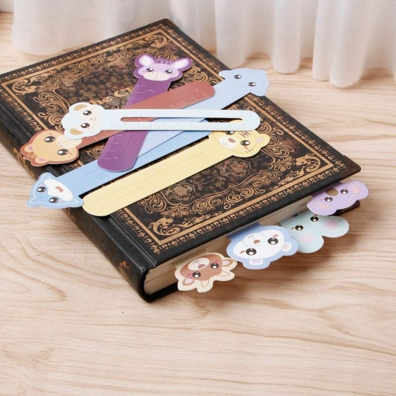 30 Pcs Kawaii Fun Animal Farm Cartoon Bookmark Paper For Books Babys Gifts Cute 12