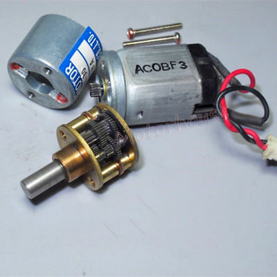 THINK DC 9V12V 24V 350RPM mini 20mm Metal Gearbox Gear motor Reduction Robot Car 6