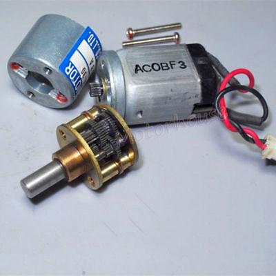 THINK DC12V-24V 350RPM mini 20mm Full Metal Gearbox Gear motor Reducer DIY Robot 6