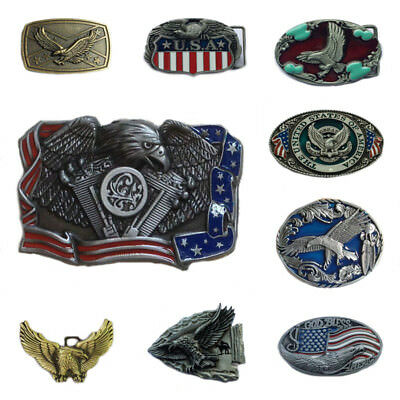Western Men's Alloy Leather Belt Buckle Vintage Cowboy Pattern 38/40MM 2