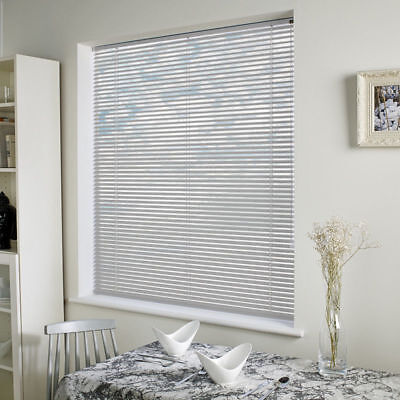 Window Blinds Easy fit PVC Venetian Blinds Wood Effect Trimable Home Office New 2