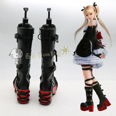 Game Dead or Alive 5 Marie Rose Cosplay Shoes Anime Party Boots