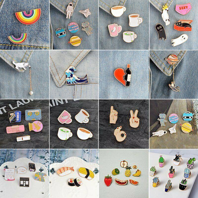 New Lovely Cute Cartoon Enamel Lapel Collar Pin Corsage Brooch Fashion Jewelry 5