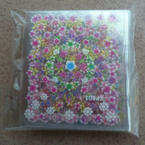50 Sheets 3D Flower Tips Nail Art Transfer Stickers Decals Manicure Decoration J 8