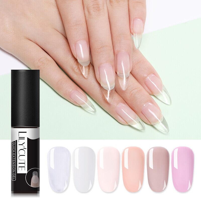 LILYCUTE Quick Extension UV Gel Nail Art Semi Permanent Vernis à ongles Tools 7