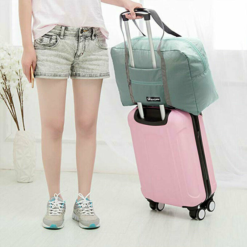 Foldable Large Duffel Bag Luggage Storage Bag Waterproof Travel Pouch Tote Bag 12