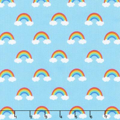 Happy little unicorns 100% cotton fabric by Robert Kaufman per FQT 4