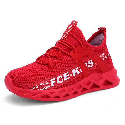 Kids Sneakers Boys Girls Running Shoes Lightweight Breathable Boys Tennis Size