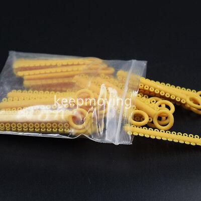 1 Pack 1040 Pcs Dental Orthodontic Elastic Braces Rubber Ligature Ties 37 Colors 9
