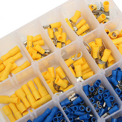 Electrical Wire Connector 720pcs Assorted Insulated Crimp Terminals Spade Set DH 5