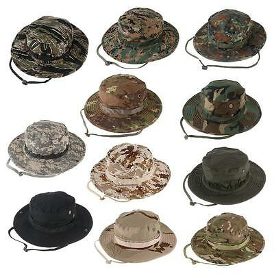 8c8a550fa8d ... Bucket Hat Wide Brim Military Hats Sun Hat Boonie Hunting Fishing  Outdoor Cap 2