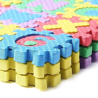 36pcs Puzzle Kid pädagogisch Toy Alphabet A-Z Letters Ziffer Schaum-Geschen I6G2