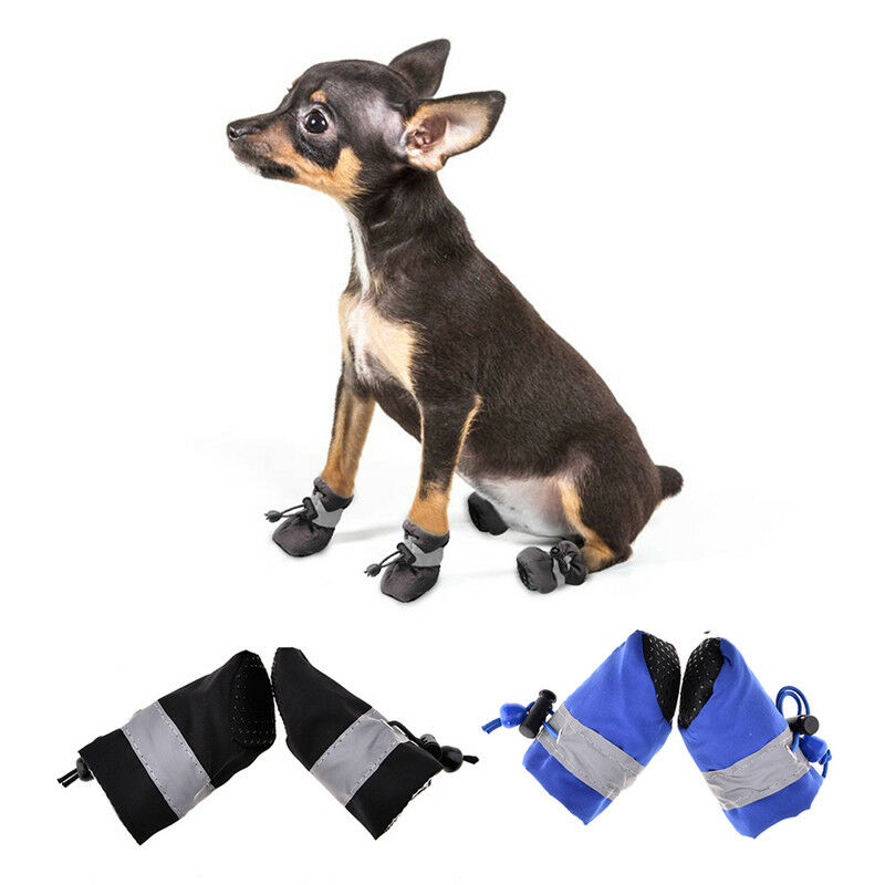 4Pcs Waterproof Pet Non-slip Shoes Winter Dog Cat Snow Boots Warm Puppy Booties 4