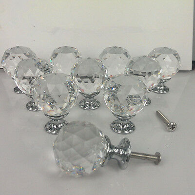 40mm Zinc alloy Spherical crystal sparkle cabinet drawer door pulls knobs handle 2
