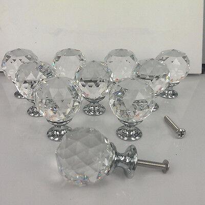 40mm Zinc alloy Spherical crystal sparkle cabinet drawer door pulls knobs handle 2