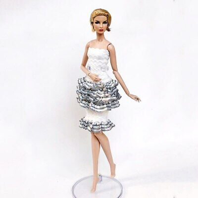 1set High Fashion Doll Clothes for 1/6 Doll Outfits Top Shirt & Skirt & Shawl 8
