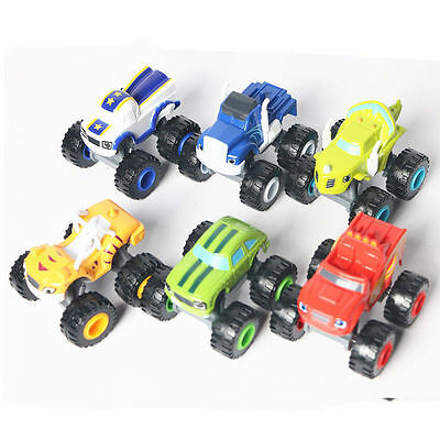 6x Blaze and the Monster Machines Vehicles Diecast Toy Racer Cars Trucks Kid Set 5