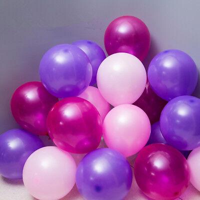 100Pcs Colorful Pearl Latex Balloon Celebration Party Wedding Birthday 10 inch 5
