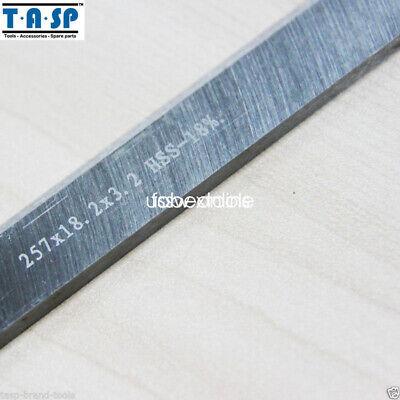 2PC HSS Planer Blades for MacAllister COD1500PT Planer 257x18.2x3.2mm 2